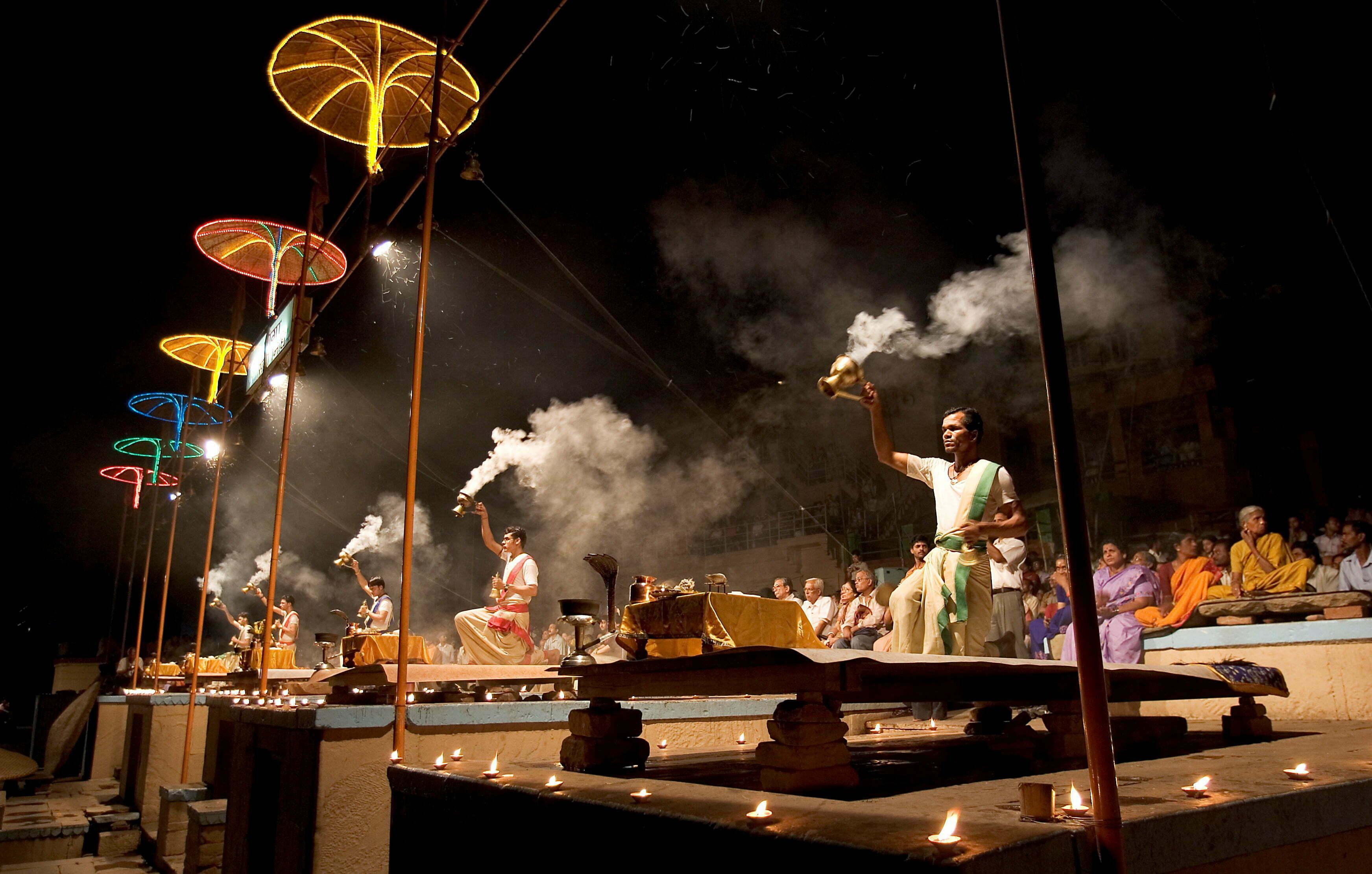 Ganag Aarti ceremony